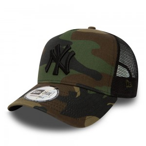"NEW ERA - Czapka ""New York Yankees Clean A Frame Camo Trucker"""