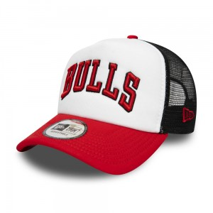 "NEW ERA - Czapka ""Chicago Bulls Colour Block White A Frame Trucker"""