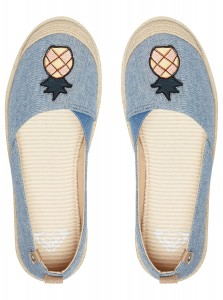 "ROXY - Espadryle Damskie ""Flora Slip On Shoes"""